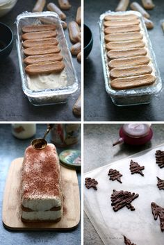 Christmas log tiramisu - easy recipe by acb 4 Tiramisu façon bûche de Noël – Recette facile By acb 4 you Tiramisu Log - Easy Cake Recipes, Snack Recipes, Dessert Recipes, Birthday Desserts, Fall Desserts, Birthday Cake, Cupcakes, Tiramisu Cake, Christmas Cooking