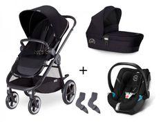 Cybex Balios M 3-in-1 Set Kombi-Kinderwagen + Aton 4 Babyschale