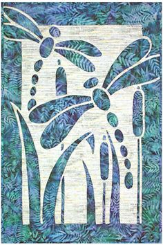 Dragonflies in Flight Hawaiian Style Quilt Pattern Chong Quilting Dragonfly   eBay