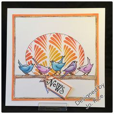 Stencil and stamps by Claritystamps...