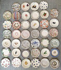 "64 vind-ik-leuks, 2 reacties - Lottie Rennie (@pomegranatepeachesartist) op Instagram: 'My current 6.5"" plate collection, all 40 of them @emma_bridgewater #emmabridgewater' Pink Vans, Emma Bridgewater, Toast, Decor Ideas, Pottery, English, Plates, Ceramics, Collection"