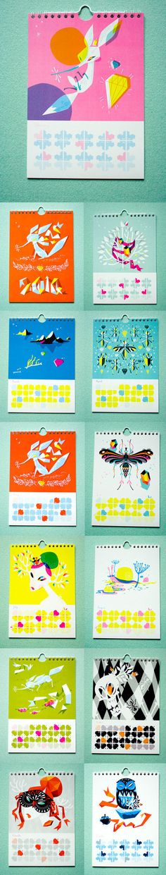2010 Calendar — Cecilie Ellefsen, via Behance