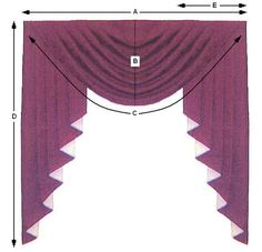 Sew Curtains Curtains - Photo Credit: Arlene's Interiors Swags are elegant treatments for tall, narrow windows yet easy-to-make. This window covering is pleated at the sides to create rounded folds and is used most … Elegant Curtains, Beautiful Curtains, Modern Curtains, Swag Curtains, Curtains With Blinds, No Sew Curtains, Valances, Window Blinds, Curtain Styles