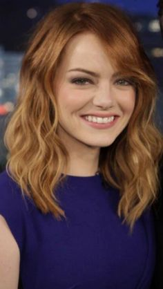 Emma Stone hair from Jimmy Kimmel appearance 2014