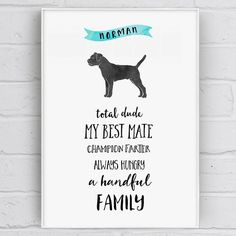 Personalised Dog Character Traits Print