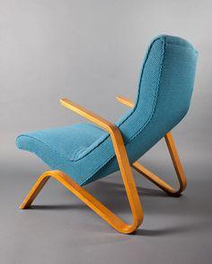 Eero Saarinen, 'Grasshopper  Arm Chair,' 1946, laminated birch, upholstery