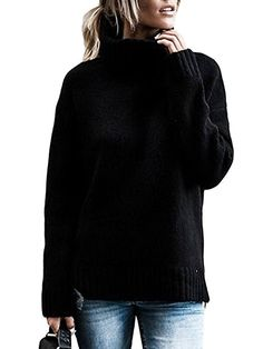 Beautife Womens Sweaters Casual Turtleneck Long Sleeve Soft Knitted Sweater Pullover at Amazon Women's Clothing store: