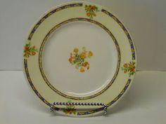 """Vintage WH Grindley Ivory Porcelain 7"""" Bread Butter Plate Floral 714550 England #vintage #whgrindley #wh #grindley #ivory #porcelain #floral #england"""