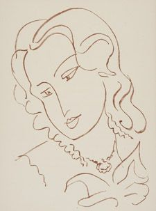 View Florilège des amours de Ronsard, Paris, Albert Skira, 1948 (D. books By Henri Matisse; Access more artwork lots and estimated & realized auction prices on MutualArt. Matisse Drawing, Matisse Paintings, Female Face Drawing, Woman Drawing, Henri Matisse, Animal Drawings, Cool Drawings, Collages, Post Impressionism
