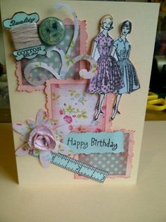 Sewing theme card