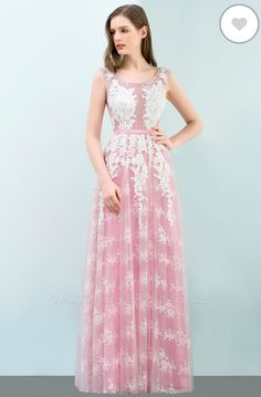 Elegant Pink Sleeveless Prom Dress Tulle Long Evening Gowns With Lace Appliques Casual Evening Dresses, Cute Casual Dresses, Long Evening Gowns, Elegant Dresses, Pink Prom Dresses, Tulle Prom Dress, Boho Dress, Homecoming Dresses, Bridesmaid Dresses