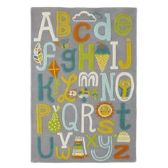 R is for Rug  | The Land of Nod  Playful rug which offers the right mix of colors to pull accent colors from.