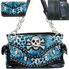 Everything Else Careful Concealed Carry Blue Hemera Purse With Vegan Leather