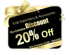 Now 20% discount on E Cig Vaproizers & Accessories