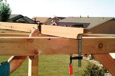 image Diy Pergola, Cedar Pergola, Pergola Carport, Building A Pergola, Small Pergola, Pergola Attached To House, Pergola Swing, Deck With Pergola, Wooden Pergola
