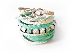 Set of 5 Mint Bracelets, Beaded Bracelets, Gift for her, Beaded Bracelet Toho Seed Beads, Macrame Knot Bracelet Mega Jewelry Bundle by MadeByJoLis on Etsy