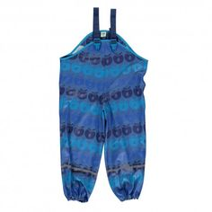 Rain pants, blue with apples, Smafolk