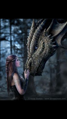 Anne Stokes - I'm so in love with this picture!!!