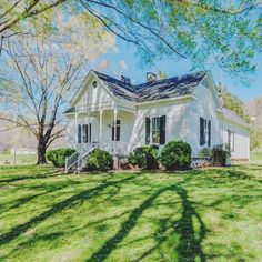 [ White farm house with a great yard and porch ] White Farmhouse, Farmhouse Style, Farmhouse Decor, Farmhouse Nashville, Farmhouse Plans, Farmhouse Furniture, Farmhouse Design, Modern Farmhouse, Cozy Cottage