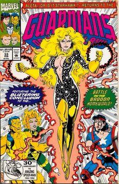 Aleta aka Starhawk II: Guardians of the Galaxy # 33 by Kevin West & Steve Montano (Marvel Comics)