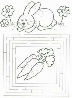 zajíc Coloring For Kids, Coloring Pages, Diy For Kids, Crafts For Kids, Easter Arts And Crafts, Easter Games, Diy Ostern, Easter Printables, Preschool Activities