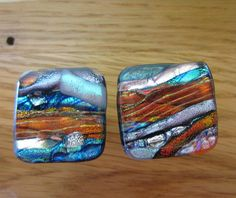 Fused Dichroic Glass Cabinet knobs  Drawer Pulls by McCrayStudios, $18.00