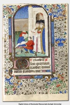 Office of the Dead  Burial in a Graveyard  Book of Hours of Paris use, 15th century manuscript on vellum. Translation: I have loved, because our Lord: will hear the voice of my prayer. Psalm 114