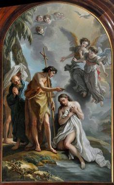 Le Baptême du Christ, par Amédée Vanloo (1761, Cathédrale de Versailles)