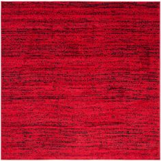 Adirondack Red/Black 4 ft. x 4 ft. Square Area Rug