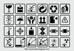 Packaging Box Symbols [EPS File]