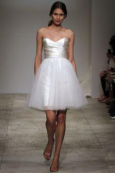 I just #LOVE short #wedding dresses. Don't you? #amsale