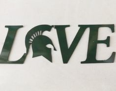 Spartan Love Sign by LeatonMetalDesigns. Explore more products on http://LeatonMetalDesigns.etsy.com