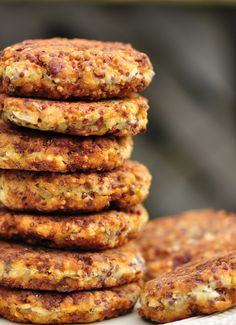 Stack of Crispy Quinoa Fritters