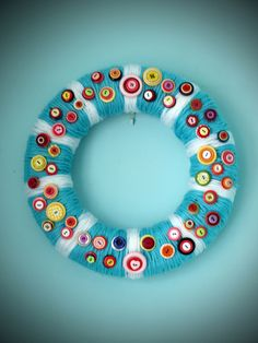 Wreath and buttons