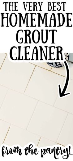 Make your own homemade grout cleaner with household supplies! A great way to clean your home naturally! #allnatural #cleaning Homemade Grout Cleaner, Tile Grout Cleaner, Cleaners Homemade, Diy Cleaners, Best Grout Cleaner, Home Helpers, Country Chic Cottage, Diy Gift Box, Clean Freak