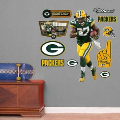 Fathead Green Bay Packers Eddie Lacy Jr Wall Decal   Wall Sticker Outlet Part 83