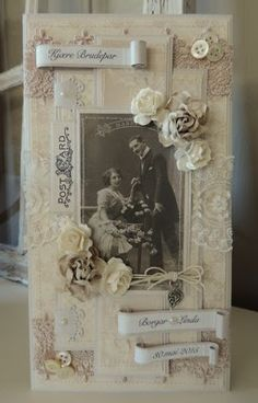 Bryllupskort Pion Design av Anne Gro Lia annegroslilleverden.blogspot.com