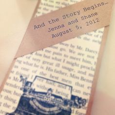 Lovely accent to the wedding tables that had a vintage and book theme.