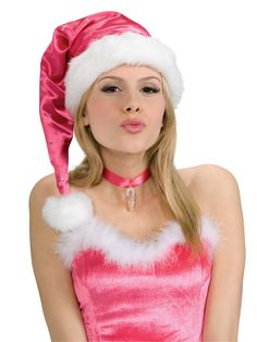 f71a6ec7c0167 Pink Santa Hat Pink Santa hat with faux fur trim