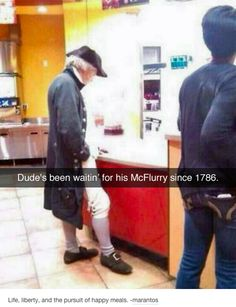 """Daily LMFAO Funny Memes so hilarious and funny about General life : """"Dude's been waitin for his McFlurry since Crazy Funny Memes, Really Funny Memes, Stupid Memes, Funny Relatable Memes, Haha Funny, Funny Posts, Funny Cute, Funny Stuff, Hilarious Memes"""