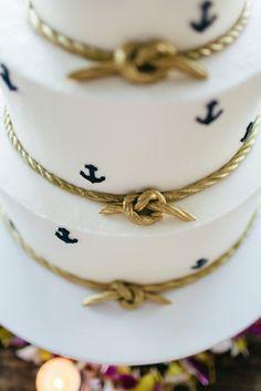 Charleston Weddings - @scaquarium - @pinriverland - @burlapelephant - @duvallevents - @tigerlilyweds - Ashley Bakery - Nautical Inspired Lowcountry Wedidng at the South Carolina Aquarium - Anchor cake
