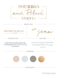 Bourbon & Blush Events Branding || Designed by Writefully Simple