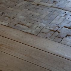 LOVE the wood floor transition.