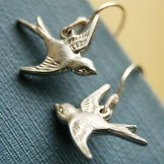 Sparrow Earrings by sudlow on Etsy