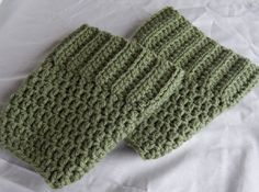 Sage Green Boot Cuffs Womens Crochet Boot Socks Knit Boot Toppers Fall and Winter Leg Warmers #etsy #crochet