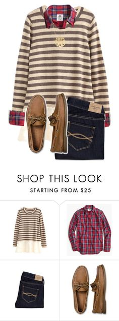 """""""25 days of Christmas: day 10"""" by hayley-tennis ❤ liked on Polyvore featuring Thomas Mason, Abercrombie & Fitch, Sperry Top-Sider and Moon and Lola"""