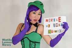 WLN Girls: Riddle Me This #Cosplay #TheRiddler #Batman