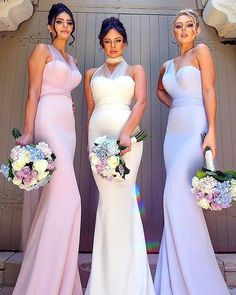Best Bridesmaids Photos You Should Make ❤ must take wedding photos with bridesmaids elegant bridesmaids with bouquets dollhousebridesmaids #weddingforward #wedding #bride Bridesmaid Pictures, Bridesmaid Dresses, Wedding Dresses, Wedding Photos, Fashion, Ruffles Bridesmaid Dresses, Bride Dresses, Marriage Pictures, Moda