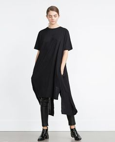 Image 1 of LONG CONTRASTS T-SHIRT from Zara