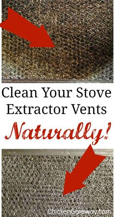 Degreasing Your Stove Vent Hood Filter Naturally - Cleaning Hacks Stove Range Hood, Oven Hood, Stove Hoods, Range Hoods, Vent Cleaning, Cleaning Hacks, Kitchen Cleaning, Cleaning Blinds, Cleaning Wood